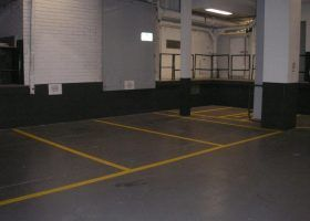 Car park line marking - Collins St, Melbourne