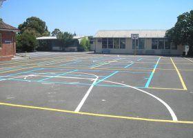 Playground line marking
