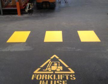 Safety-Walkway-Forklift-Line-Marking