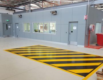 factory -yellow-black-epoxy-line-marking
