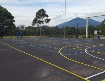 Outdoor-Yellow-Line-Sports-Court-Line-Marking
