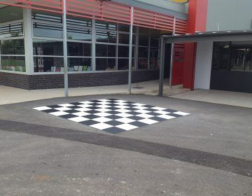 Outside Chessboard - school line marking