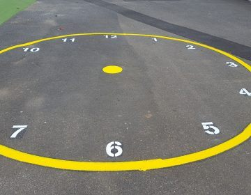 Outside-Clock-School-Line-Marking